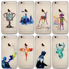 Fundas Harry Potter Acuarela .24 MODELOS.Iphone X,5/5S,6/6S, 6+/6S+, 7/7+, 8 /8+
