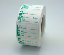 Roll 500 MINI PAT Test / Testing Labels PASSED Non Rip 40 x 24mm PASS Stickers