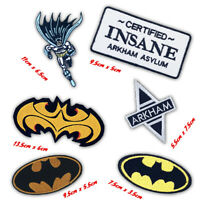 Comic DC Character Batman Arkham Badge logo Iron on Sew on Embroidered Patch