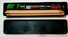 6pc SHOTGUN BARREL WOODEN CLEANING KIT & BOX 12 GAUGE 12G BORE GUN KIT BRUSHES