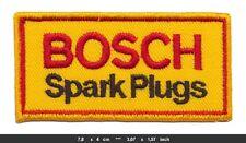 BOSCH SPARK PLUGS Aufnäher Aufbügler Patches Auto Motorrad Zündkerzen Motorsport