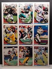 1994 Topps Football Uncut Promo Sheet
