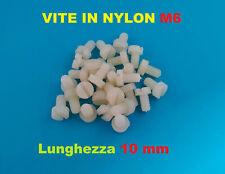 10x Vite Bullone M6 In plastica nylon distanziale 10 Pezzi