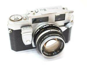 Konica III M Rangefinder Camera 50mm f1.8 Hexanon Lens