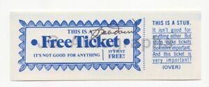 "Bobby Doerr - Baseball Hall of Fame, Boston Red Sox - Signed ""Free Ticket"""