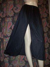 "Vintage Vanity Fair Black Silky Nylon Slit Half Slip Lingerie L 32"""