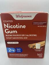 Walgreens Nicotine Gum 2mg Cinnamon 160 pieces 11/2021 Compare to Nicorette New