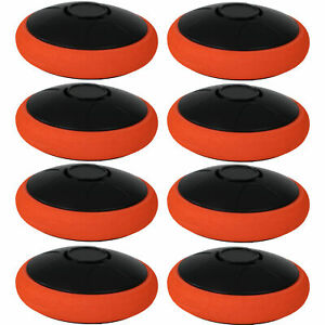 Sunnydaze Tabletop Air Hockey Electronic Rechargeable Hover Puck - Set of 8