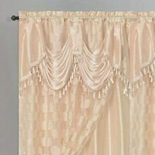 CIRCLE CYCLE. Clipped Voile. Jacquard Window Curtain Drape With Attached Fancy X