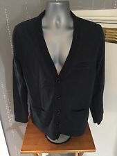 Mens Thomas Burberry Navy Cardigan Size:L. very smart 100% authentic