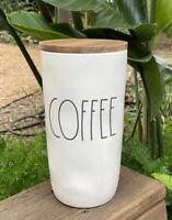 "NEW Rae Dunn Magenta 9"" Coffee Canister Cellar Wood Lid Sugar Coffee Ivory LL"