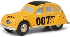 Schuco 1/90 Piccolo Citroen 2 CV James Bond 007 yellow model car metal