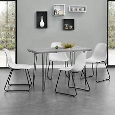[en.casa] MESA de comedor 120x60cm Cocina hairpin-legs aspecto cemento