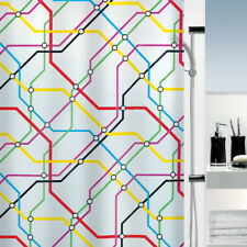 Spirella Metro Multicolour TUBE SUBWAY MAP Shower Curtain London 180 x 200cm
