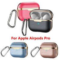 Pour  Airpods Pro Earbud Leather Case Cover Housse Coque Etui de Protection