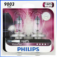 Philips Genuine 9003VPB2 Upgrade VisionPlus Halogen Light Bulb, Made in Germany