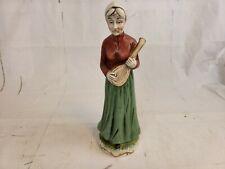 Flambro Porcelain Figurine Old Woman Playing Ukulele Pt2
