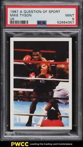 1987 A Question Of Sport UK Boxing Mike Tyson ROOKIE RC PSA 9 MINT