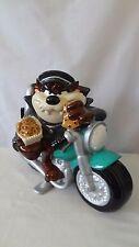 Tasmanian Devil 1998 Motorcycle Bike With Taz License Plate Cookie Jar #J124.