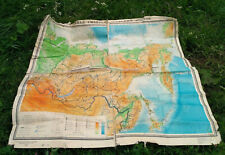 Geographic Map of Eastern Siberia publishing in Moscow 1966 Vintage Russian USSR
