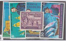 TURKS & CAICOS ISLANDS #85 & #253-#256 MINT SET