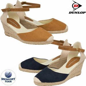 Ladies Wedge Sandals Memory Foam Espadrille Summer Platform Party Strappy Shoes