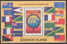 Solomon Islands 1981 ** Bl.9 Sport Flaggen Flags [sq6126]