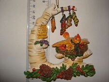 Cardinal Ornament Cardinal Family w Tree and Stocking Charms 7471 197