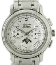 Zenith El Primero Chronomaster Triple Date Mondphase Edelstahl Ref. 02-0240-410