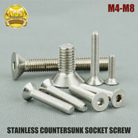 M4 M5 M6 M8 Countersunk Bolt Allen Key Socket Screws Stainless Stell