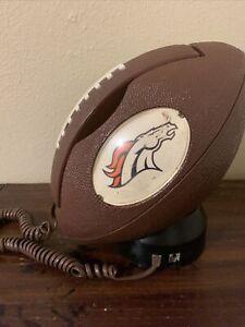 "NFL DENVER BRONCOS Football Telephone Columbia Tel-Com Model # NFL-28 ""MAN CAVE"""
