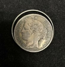 France 1870 5 Francs Silver Coin Clip Wallet