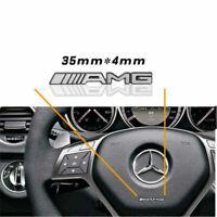1 x Steering Wheel Badge Logo Emblem Sticker for Mercedes AMG - UK Stockists