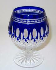 "Waterford CLARENDON Brandy Snifter COBALT Blue, Cut Multisided Stem 5 1/ 4"" Tall"