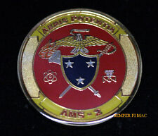 AVIATION MAINTENANCE SQUADRON AMS2 CHALLENGE COIN US MARINES PIN UP NAS MCAS MAW