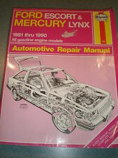 FORD ESCORT & MERCURY LYNX 1981 THRU 1990 AUTOMOTIVE REPAIR MANUAL HAYNES # 789