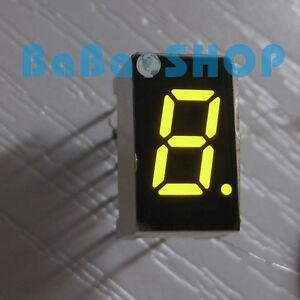 "10pcs 7.6 mm 0.3"" 0.3 inch 7 Segment Display Yellow LED 1 Digit Common Cathode"