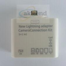 Lightning f. iPad 4 iPad4 Mini  Kamera Camera Connection Kit 5in1 5 in 1 Adapter