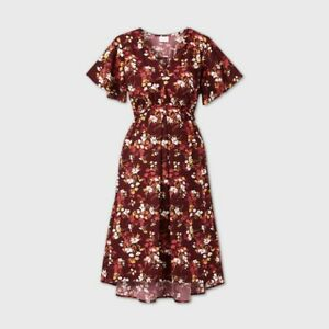 Ingrid & Isabel Maternity Floral Dress Medium