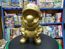 Super Mario Gold Vintage Statue  30 CM Nintendo Japan Rear !!!!