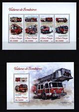 Sao Tome + Principe 2013 - Feuerwehr Löschfahrzeuge Leiterwagen Einsatzfahrzeuge
