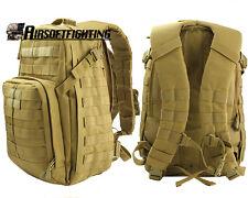 Molle Tactical 40L Hunting Assault Backpack Fishing Camping Hiking Bag TAN