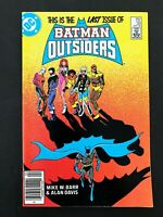 BATMAN AND THE OUTSIDERS #32 DC COMICS 1986 NM+ NEWSSTAND EDITION