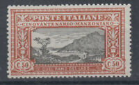 REGNO D'ITALIA 1923 MANZONI 50 CENTESIMI G.I MNH** CENTRATO