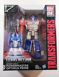 Transformers: Titans Return Autobot Apex & POWERMASTER OPTIMUS PRIME - BRAND NEW