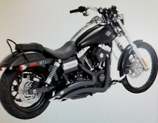 Harley Dyna Vance and Hines Black Big Radius for 06-17 Exhaust 2:2 System