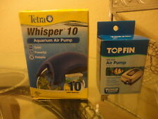 Tetra Whisper 10 & TopFin 5 Gallon Aquarium Air Pumps - Fish Tank