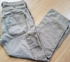 Mens Size 32 X 30 Brown Jeans Worn Out Stained Work Pants Wolverine Actual 32X29