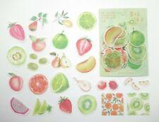 Japanese fruit sticker flakes! Kawaii food planner stickers strawberry peach