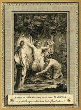 "Ovid's Metamorphoses ""Apollo after having overcome Marsyas"" ca 1770's ENGRAVING"